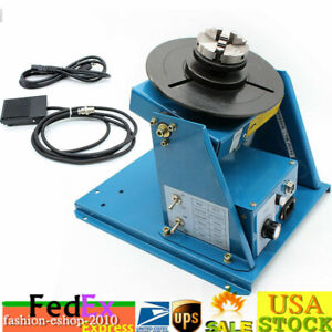 Rotary Welding Positioner Turntable Table 2 5 3 Jaw Lathe Chuck 10kg 0 90 Top