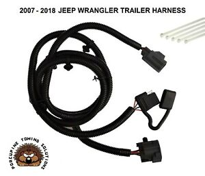 07 18 Wrangler Trailer Wiring Wire Harness Hitch 4 Way Towing Adapter Connector