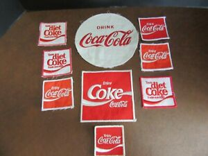 Vintage Coca Cola Patches Lot of 9 Come off of Drivers Shirts and Jackets