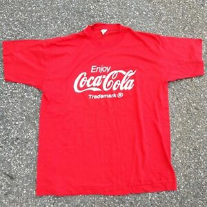 Vintage 80s Screen Stars Enjoy Coca Cola Shirt Made In USA Single Stitch 50/50