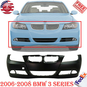 Front Bumper Cover Primed W O Hlw And Pdc Snsr Holes For 2006 2008 Bmw 3 Series