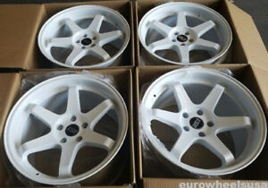 Esr Sr07 Gloss White 18 Inch Wheels 18x10 5 22 5x114 3 Rims Set 4