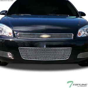 Topline For 2006 2016 Impala Limited Mesh Front Lower Bumper Grille Chrome
