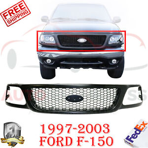 Front Grille Primed Honeycomb Insert For 1997 2003 Ford F 150 2004 Heritage
