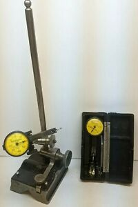 Lot Vintage Surface Gage Base W Federal Testmaster M 2 Dial Indicator Machinist