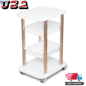 Four layer Machine Beauty Center Trolley Styling Pedestal Rolling Cart Holder