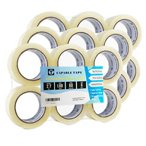 18 Rolls Heavy Duty Packaging Tape Shipping Packaging Moving Sealing Stronger