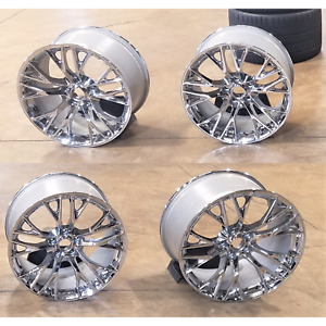 Used Staggered Set 4 Oem 15 19 Corvette Z06 Wheels Front 19x10 Rear 20x12
