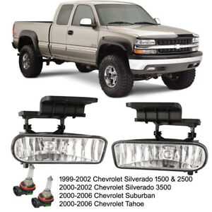 99 02 Chevy Silverado 1500 2500 00 06 Suburban Tahoe Clear Fog Lights Light Bulb