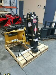 Post Driver For Skid Steers Drive Wood Or Steel Post Up To 8 25 400 800 Blows