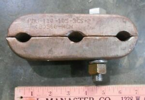 Bronze Ground Clamp For 3 Cables rods 500 mcm k 6