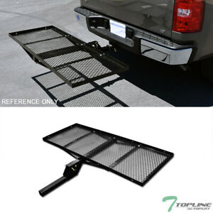Topline 59 Mesh Foldable Trailer Hitch Cargo Carrier Tray For Chevy T04 Black