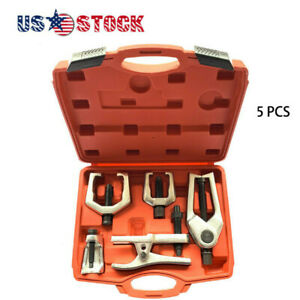 5pcs Pitman Arm Puller Ball Joint Separator Tie Rod Front End Service Tool Us