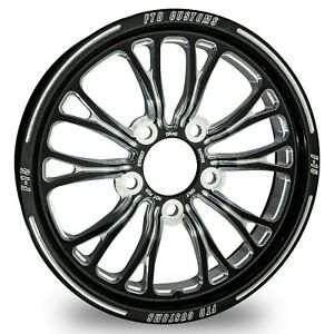 Ftd Customs F15 Black Anodized Drag Racing Wheels Chevy Bolt Pattern 5 On 4 750