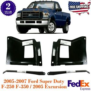 Front Bumper Outer Bracket Mount Plate For 2005 2007 Ford Super Duty F 250 350