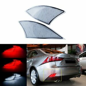 Clear Lens Led Bumper Reflector Tail Brake Fog Light For Lexus Is250 Is350 2014