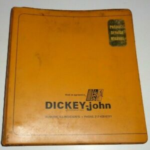 Dickey John Monitors Installation operator Manuals bulletins Djo Djoc Djop Dj49a