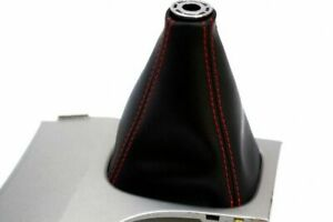 Leather Synthetic Manual Shift Boot Fits Toyota Camry 07 11 Red Stitch