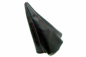 Leather Synthetic Manual Shift Boot Fits Ford Mustang 99 04 Tri Color Stitch