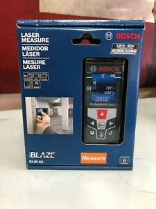 Bosch Glm42 Indoor outdoor Laser Distance Measure Tool W Color Display New