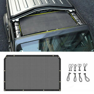 Sunshade Mesh Top Cover Roof Uv Sun Protection For Jeep Jl Wrangler