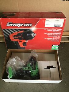 Snap On 18v Monsterlithium Compact Cordless Impact Wrench Ct8810agdb Green