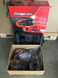 Snap On 18v Lithium Cordless Impact Wrench Kit Ct8810b Red