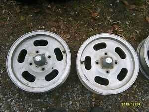 Ansen Automotive Sprint Wheels Set Of 4 Two 15x4 5 Two 15x5 5 Including Caps