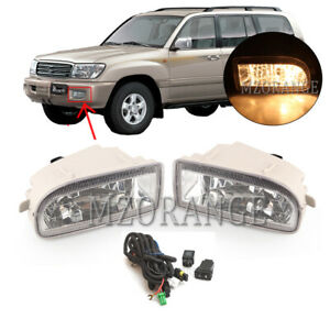 Fog Light Lamp Wiring Switch Kit For Toyota Land Cruiser 1998 2007 Clear Len 55w