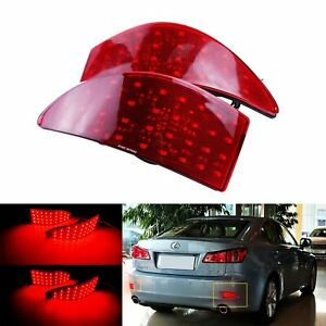 Pair Led Rear Bumper Reflector Tail Brake Light For Lexus Is250 Is350 2006 2013