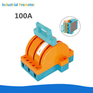 100a 3 Poles 220v 380v Circuit Breaker Double Throw Disconnect Knife Switch 3p