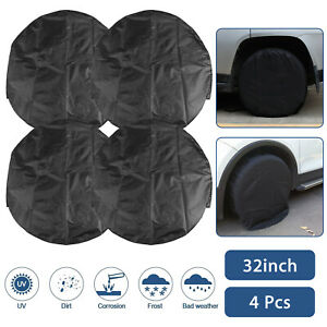 Set Of 4 Wheel Tire Covers For Rv Trailer Camper Car Truck And Motor Home 32