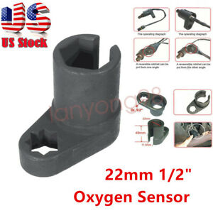 1 2 Dr O2 Oxygen Sensor Offset Socket Vacuum Switch Flare Nut Wrench 6pt 22mm