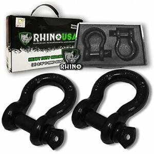 3 4 Shackle Pin With Tow Strap Winch Off Road Jeep Offroad Towing Accessories
