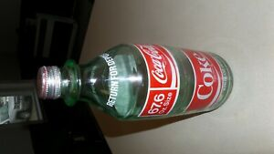 Vintage Coca Cola Bottle 2 Liter 67.6 FL OZ Size Green Glass Coke Screw on Cap