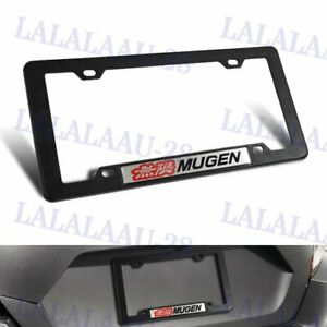 Mugen Car Trunk Emblem With Abs License Plate Tag Frame For Honda Civic Si 1pc