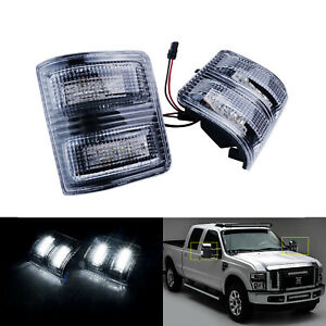 White Led Side Mirror Turn Signal Light For Ford F250 F350 F450 Super Duty Tow
