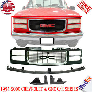 Primed Shell Insert Grille W Chrome Filler For 1994 2000 Gmc C k Series Pu