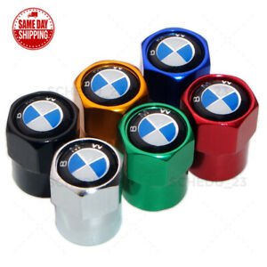 Hex Bmw Logo Badge Car Wheel Tire Air Valve Cap Stem Dust Cover M Power Sport