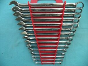 Large Snap On Sae 12pt Combo Wrench Set oex34b 1 4 1 1 16 15pc W rack X lnt