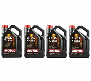 Motul 8100 X cess 5w40 5l Fully Synthetic Performance Engine Motor Oil qty 4