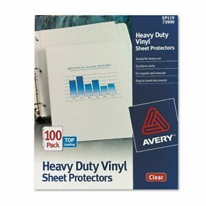 Avery 73900 Top load Vinyl Sheet Protectors Heavy Gauge Letter Clear box