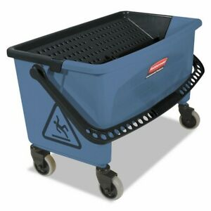 Rubbermaid Commercial Finish Mop Bucket With Wringer 28 quart Blue