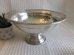 Vintage Preisner Sterling Silver Pedestal Compote 9 Bowl Sterling Weighted 77
