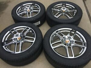 19 New Chromed Oem Original Porsche Cayenne Made In Germany Turbo Wheels Tires