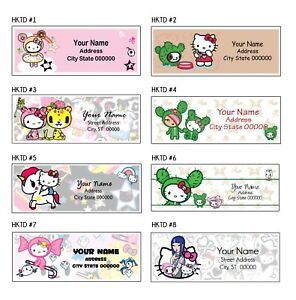 Hello Kitty X Tokidoki Address Labels 30 Per Sheet 8 Designs To Choose From