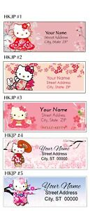 Hello Kitty Japan Kimono Address Labels 30 Per Sheet 5 Designs To Choose From