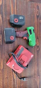 Used Snap On 3 8 14v Impact Gun Tool W Charger 2 Batteries Cover