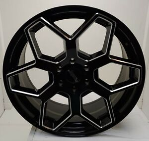 American Racing Ar916 Gloss Black With Milled Accents 22x9 Bp 6x1397 Et 30