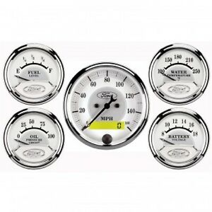 Autometer 880087 Gauge Kit Ford 5 Pc W Electric Speedometer